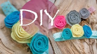 Детская повязка, розы из фетра DIY Tsvoric
