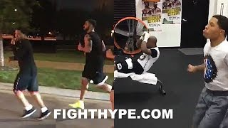 GERVONTA DAVIS TRAINING ALONGSIDE DRAKE AND MAYWEATHER; STARTED FROM THE BOTTOM NOW HE'S PPV AUG. 26