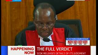 Justice Ojwang' highlights the elements of credibility numerated in the said election