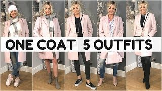 HOW TO STYLE WINTER COAT | 1 COAT-5 OUTFITS