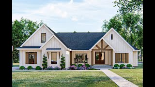Architectural Designs Country Craftsman House Plan 62835DJ Virtual Tour With Interior Walkthrough!
