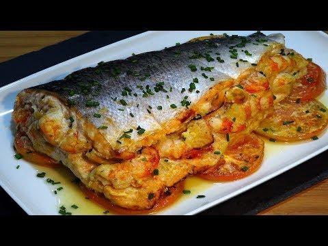 Receta Salmón relleno de marisco especial para Navidad - Recetas de cocina, paso a paso, tutorial