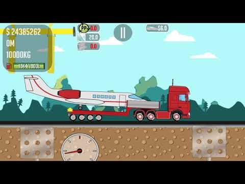 Game Trucker Joe transport plane to airport