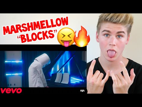 MARSHMELLO - BLOCKS OFFICIAL VIDEO **REACTION** MUST WATCH 2017 -