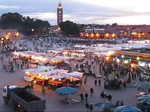 Impressies van het Jamaa el Fna plein