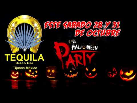 Halloween Party Tequila Disco Bar.