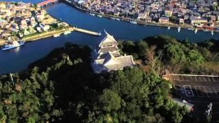 徳島県日和佐城空撮