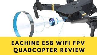 EACHINE E58 WiFi FPV Quadcopter with 120° Wide-Angle 720P HD Camera Foldable Drone Unboxing & Review