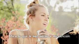 Look What They've Done to My Song - Cover by Miley Cyrus (Traducida al español)