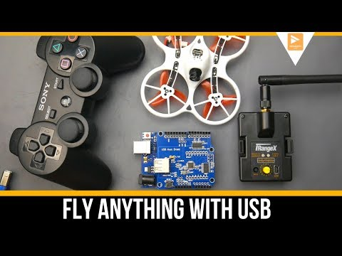 Fly FPV Drone or RC Airplane With A USB Controller // PS3 Controller MultiProtocol Module