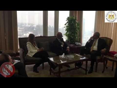لقاء الوزير /طارق قابيل بعدد من ممثلى تجمع شركات الادوية الامريكية العاملة فى السوق المصرى