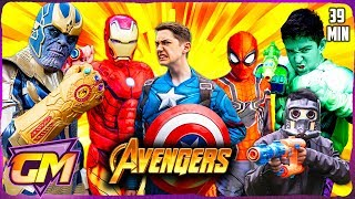 Avengers Vs Thanos - Epic Superhero Kids with Nerf!