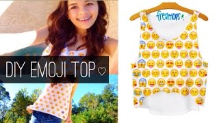 ♡ DIY No Sew Freshtops Emoji Top ♡