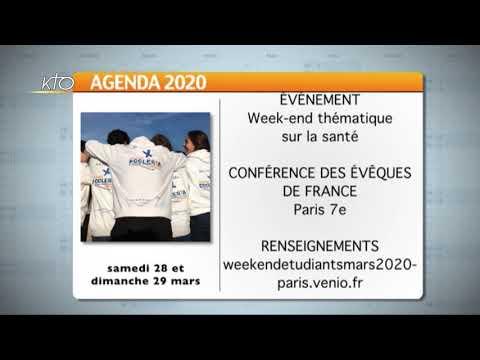 Agenda du 13 mars 2020