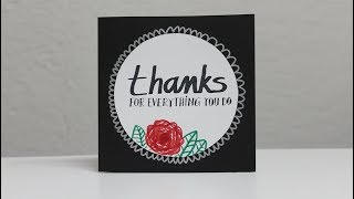 How to make thank you cards - Thanks card for grandparents