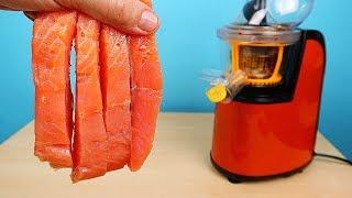 Что если выжать сок из Красной рыбы? Получится или нет? Бедная соковыжималка! alex boyko