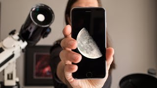 How to photograph the Moon with a Smartphone and a Telescope