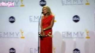 Jessica Lange Backstage Emmy Speech 2012 - American Horror Story