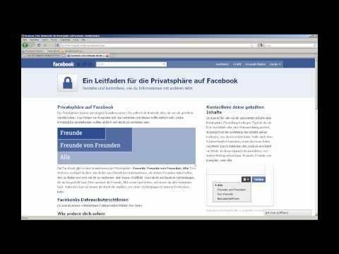 Das Facebook-Privatsphären-Einmaleins / Facebook Privacy Tutorial