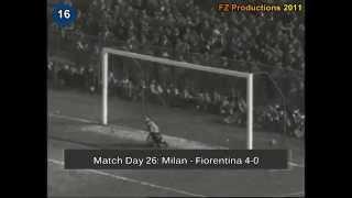 Italian Serie A Top Scorers: 1954-1955 Gunnar Nordahl (Milan) 26 goals