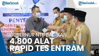 NTB Produksi Alat Rapid Test Entram, 4.800 Entram dibagikan Gubernur Provinsi NTB Zulkieflimansyah