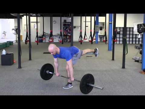 barbell single leg RDL