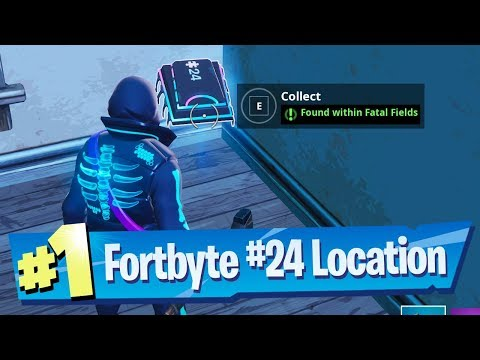 Fortnite Fortbyte #24 Location - Found Within Fatal Fields