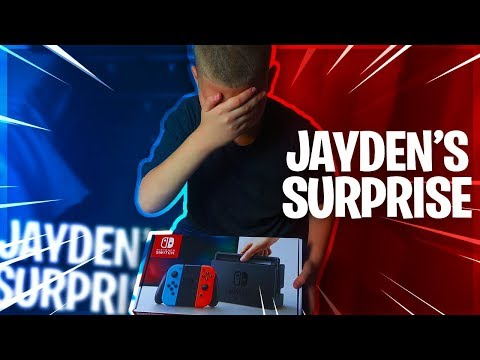 , title : 'SURPRISING JAYDEN WITH A NINTENDO SWITCH!! *HE CRIED* HE CAN PLAY FORTNITE NOW! - FAMILY VLOG 🔥'
