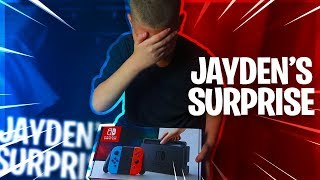SURPRISING JAYDEN WITH A NINTENDO SWITCH!! *HE CRIED* HE CAN PLAY FORTNITE NOW! - FAMILY VLOG 🔥