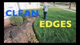How To Have CLEAN EDGES In Your Lawn