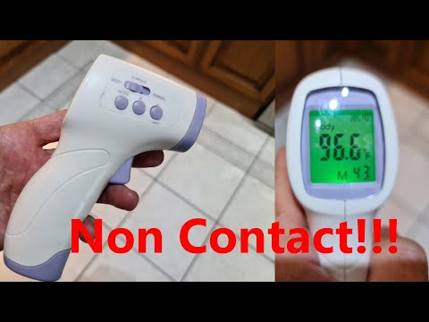 Infrared Non-Contact Thermometer │Forehead Temperature Warning │ No Touch Design │Fever Alarm Temperature Gun │ CE Certified