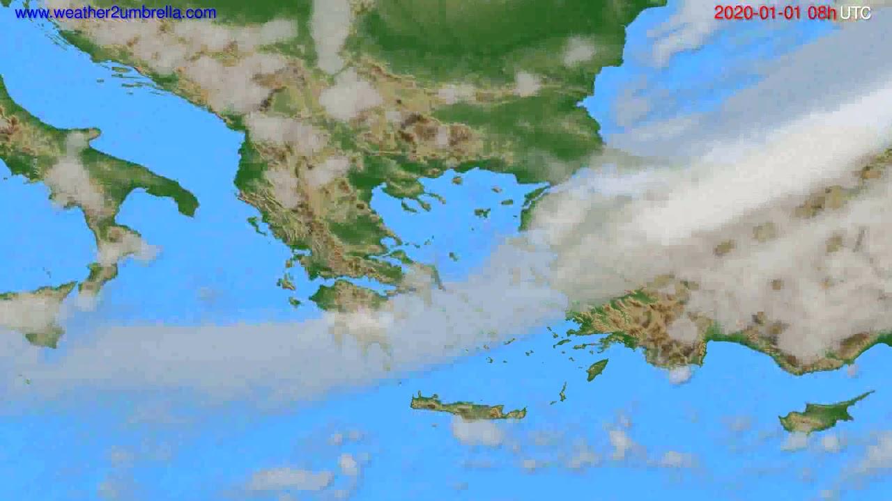 Cloud forecast Greece // modelrun: 12h UTC 2019-12-31