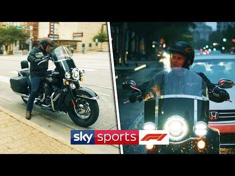 Image: Watch Johnny Herbert cruise around Austin in a Harley Davidson