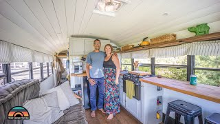 DIY Off Grid 28ft School Bus Tiny House - Corporate America To Freedom