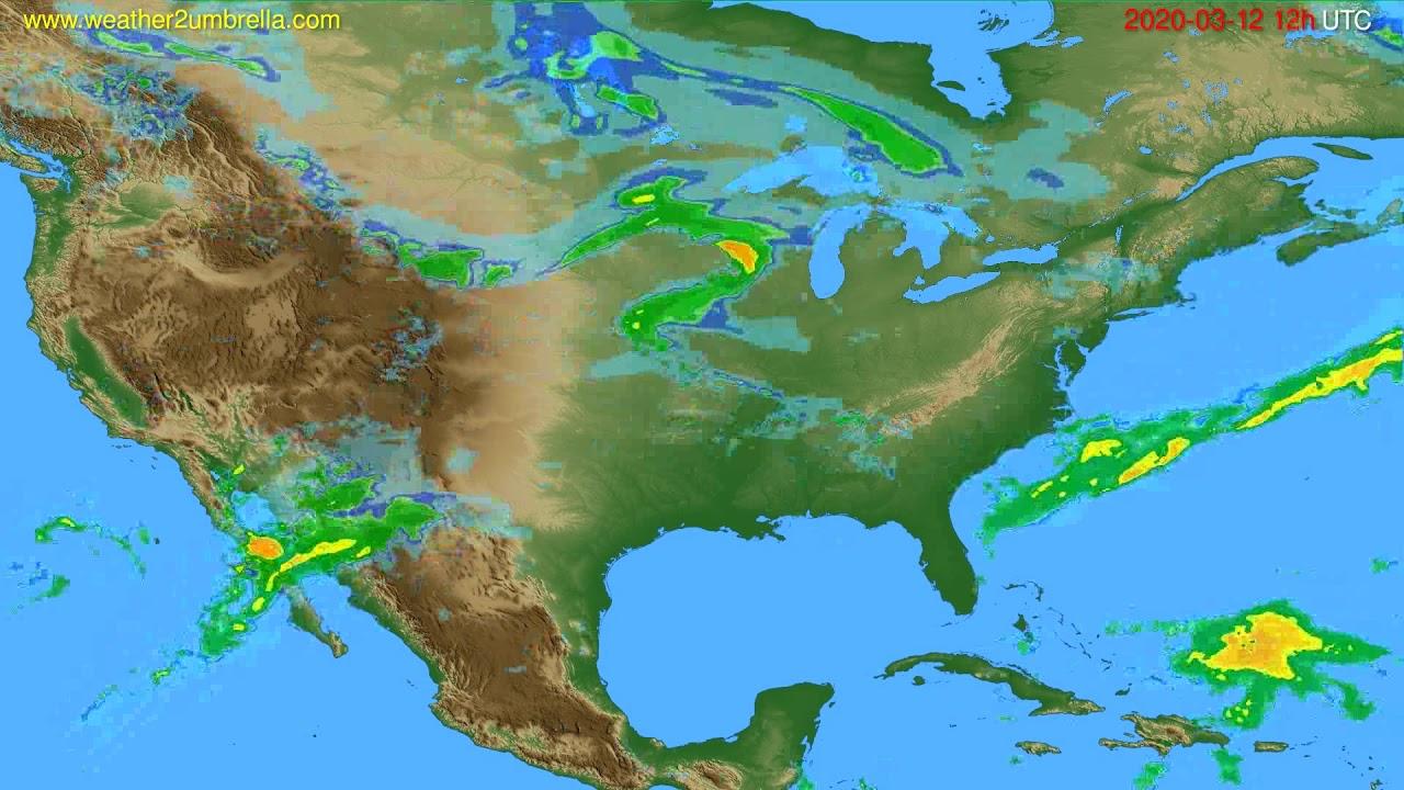 Radar forecast USA & Canada // modelrun: 00h UTC 2020-03-12