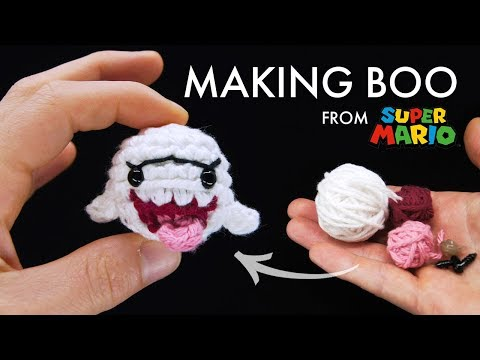 Crocheting Boo from Super Mario Bros [1:55]