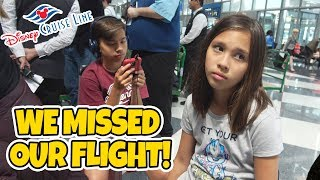 WE MISSED OUR PLANE!!! DISNEY CRUISE WEEK Day 0 - Heading to Barcelona for Mediterranean Cruise! - Video Youtube