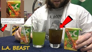 Enjoying A 24 Year Old Hi-C Ecto Cooler Juice Box Which I Bought On eBay For $400 | L.A. BEAST