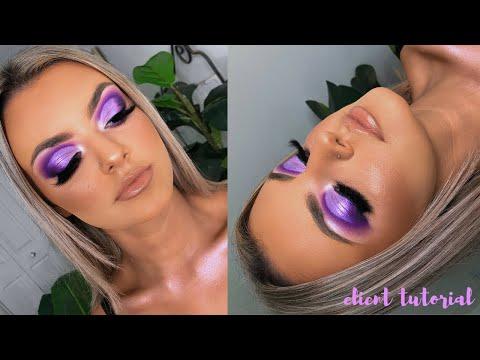 bright, purple glam 💜🦄 client tutorial
