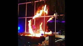 Feuershow Lady Swing mit Sabrina Wolfram Badewelt Sinsheim