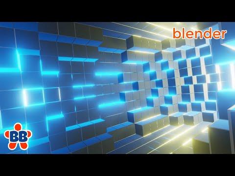 BLENDER 3D 2 8 motion graphics  AFTER effects - смотреть