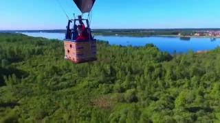 Аэросъемка воздушного шара телеканала 360