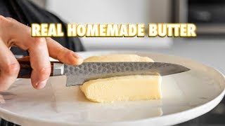 2 Ingredient Cultured Butter