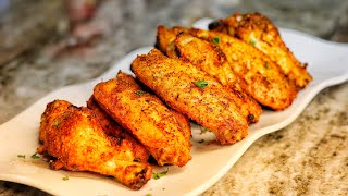 Louisiana Dry Rub Oven Fried Chicken Wings Recipe| Must Try!!