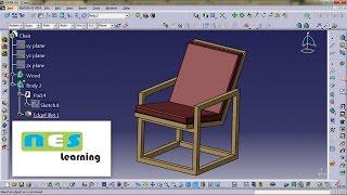 CATIA V5/V6 tutorial | Wooden Chair