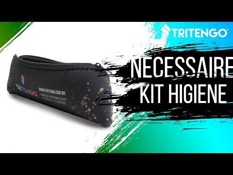 Nécessaire Kit Higiene em Neoprene Personalizada para Brinde Corporativo