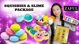 MY FIRST SQUISHY AND SLIME PACKAGE FROM ZAFUL.COM HUGE SQUISHIES AND SLIME PACKAGE OPENING