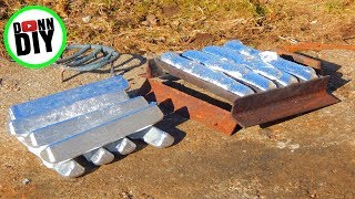 how to make a fire brick metal foundry furnace part 1 cutting the