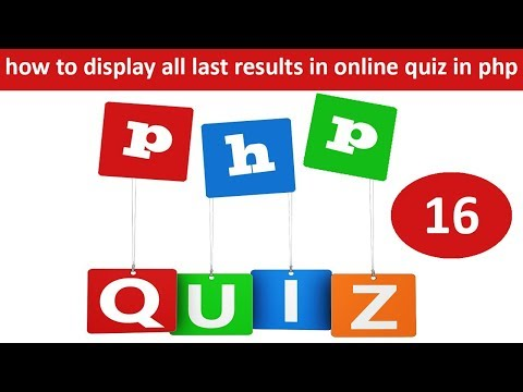 how to display all last results in online quiz in php