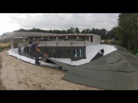 Nachrichten 09.09.2014: Teichfolie und Teichvlies im Tempelteich verlegen